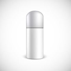 Blank cosmetics bottle with copy space.