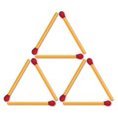 Gioco dei fiammiferi triangolo