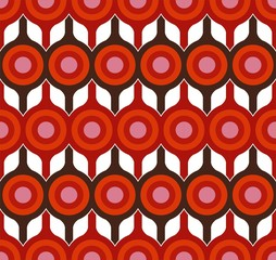Retro red seamless texture floral design