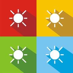 Iconos sol colores sombra