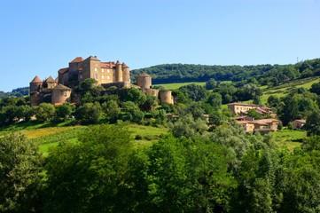 Hilltop castle of Château de Berzé in Burgundy, France