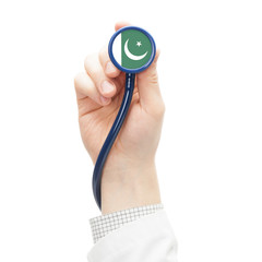 Stethoscope with flag series - Pakistan