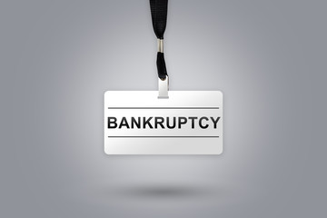 bankruptcy on badge