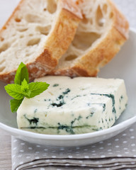 Blue cheese and ciabatta