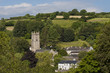 A typical view of a rural town in Devon, England. Ashburton. - 81448894