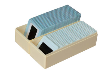 Case with slides