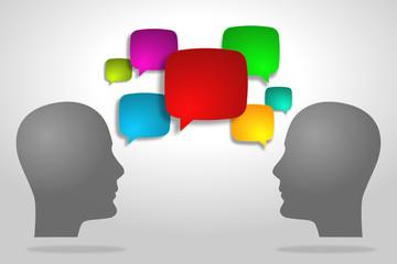 Speech bubble/ communication concept