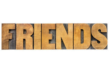 friends word typography