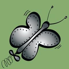 cartoon robot butterfly