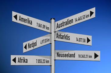 Luftroute 6 Kontinente