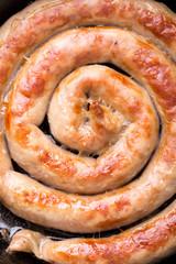 Grilled chicken sausage.