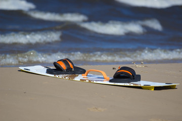 board kite on the beach
