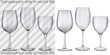 Transparent and opaque empty glass goblets for wine - 81452670