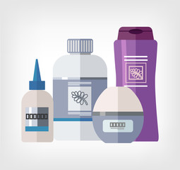 Vector flat bottle template illustration