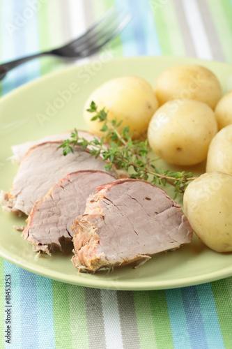 Pork tenderloin with potato