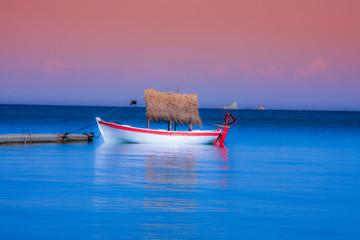 Kleiner Bootstraum in Rosa und Blau