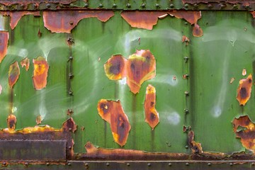 Industrial worn metal closeup photo