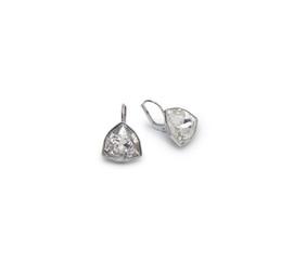 A couple of diamond earrings