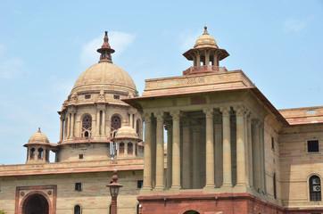 Indian Government buildings. Raj Path, New Delhi, India.