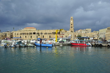 Old City of Acre (Sea Port, Akko, Israel)
