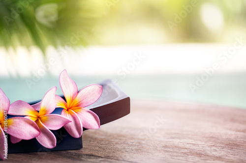 Poster Frangipani Frangipani tropical spa flower