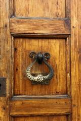 old durable brass door knocker
