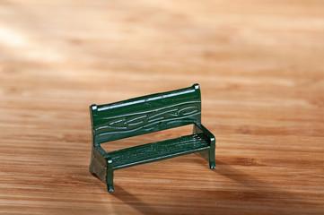 Outdoor bench - macro