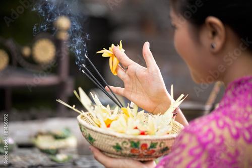 Leinwandbild Motiv traditional offering for gods