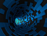 Fototapety Abstract 3d rendering of futuristic tunnel.