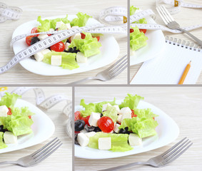 salad vegetables the concept of health fitness