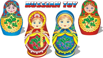 set of russian toys - dolls