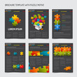 Set of modern brochure flyer design templates