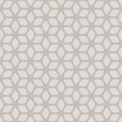 Decorative Seamless Floral Geometric Gold & Beige Background