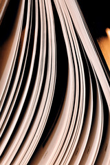 Closeup of an open book