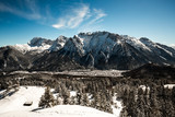 Beautiful mittenwald village and karwendel mountains