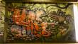 Leinwanddruck Bild - Graffity Eule