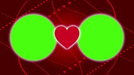 wedding background, frame green screen, loop