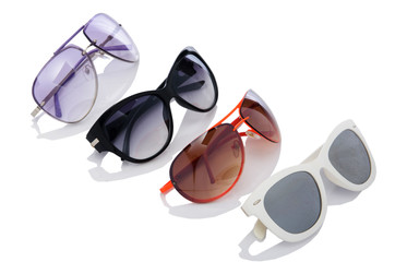 Elegant sunglasses isolated on the white