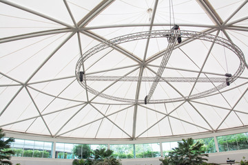 Fabric tensile roof structure background