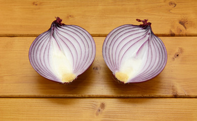 Red onion halved