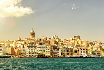 Cityscape with Galata Tower over the Golden Horn, Istanbul