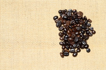 Coffee on Sack background