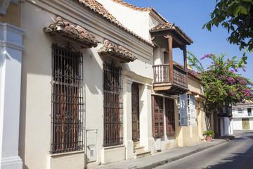 Calle en Cartagena de Indias