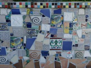 サンタモニカの民家のモザイクタイル