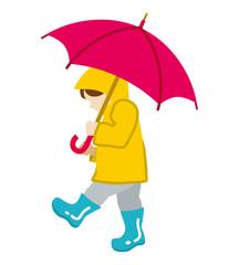 Child has an Umbrella,Isolated