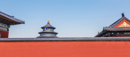 Beautiful Scene of Temple of Heaven,  Beijing,China.