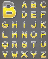 Beer letters set. Beverage alphabets. Fonts.