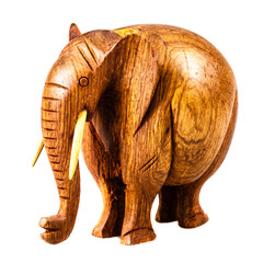 Fat wooden elephant figurine