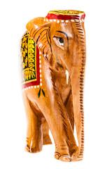 Indian wooden elephant figurine