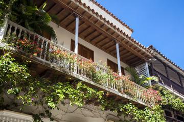 Balcones en Cartagena de Indias
